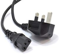 Kenable Power Cord UK Plug to IEC Cable (PC Mains Lead) C13 6m (~20 feet)