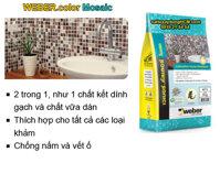Keo chà ron và dán gạch Mosaic - Weber color Mosaic
