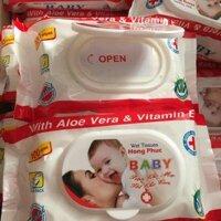 Khăn giấy ướt khăn giấy ướt lau chùi cho em bé babyChất liệu sợi dệt mềm mại