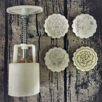 Khuon banh trung thu lo xo 50g hoa hong