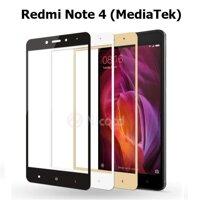 Kính cường lực full màn hình 5D Xiaomi Redmi Note 4 MediaTek (Trắng)