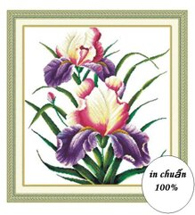 Tranh thêu chữ thập hoa lan - DLH-YH305