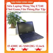 Laptop Dell Latitude E7240 (4300-4-128) - Intel Core i5-4300U, 4GB RAM, 128GB SSD, Intel HD 4400, 12.5 inch