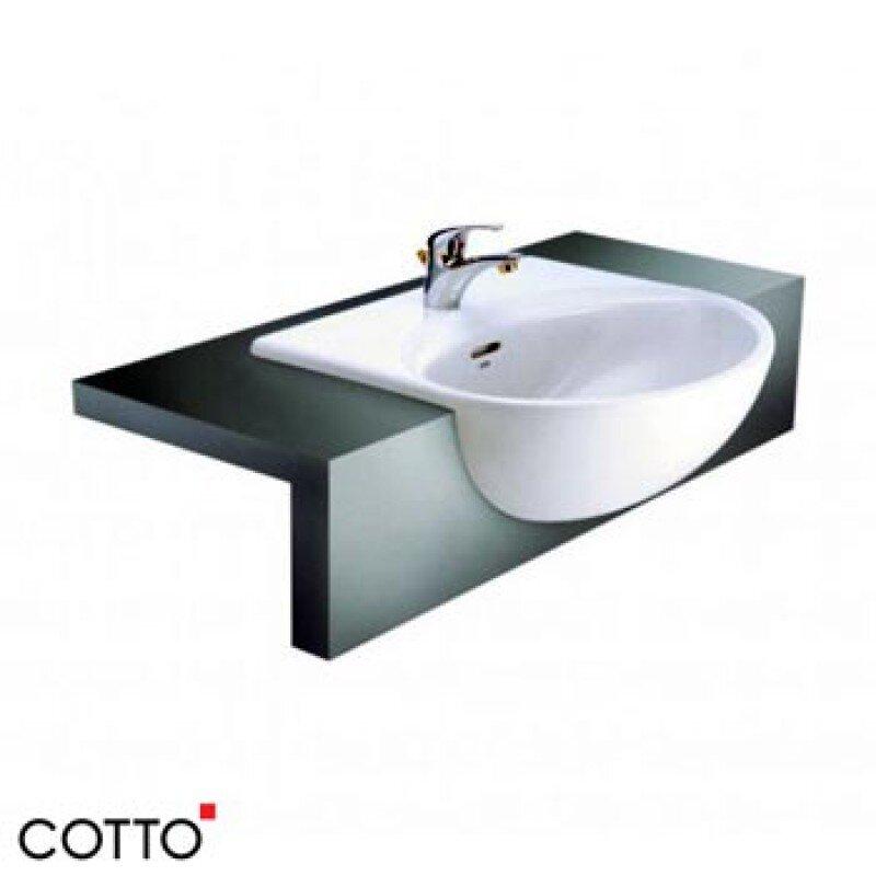 Chậu rửa bán âm bàn Cotto C021