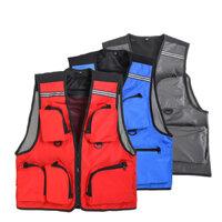 Leo Fishing Vest Life Jacket Multi Pocket Vest Outdoor Swim Safety Survival Clothing