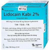 LIDOCAIN KABI 2% Hộp 100 ống 2 ml