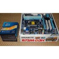 Main máy tính gigabyte b75 d3h 4 khe mới full box bảo hành 3 năm.