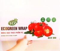 Màng Bọc Thực Phẩm Loại Lớn EcoGreen 30x250m - an toàn với lò vi sóng - SPHẨM VÌ MÔI TRƯỜNG