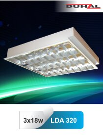 Máng đèn phản quang âm trần Duhal LDA320 3x9W