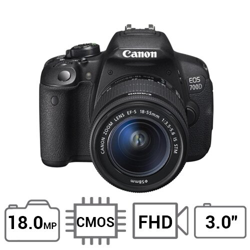 Máy ảnh DSLR Canon EOS700D / EOS Rebel T5i (EF-S 18-55mm F3.5-5.6 IS STM) - 18MP