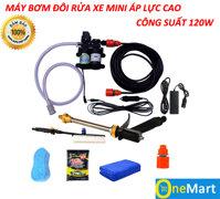 Máy bơm rửa xe mini áp lực cao – Máy đôi công suất 120W