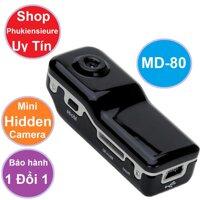 Máy ghi hình bí mật Camera thể thao siêu nhỏ DV MD80 màu đen- - intl