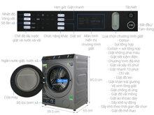 Máy giặt sấy Toshiba TWD-BH90W4V - inverter, 8kg