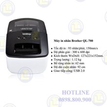 Máy in nhãn Brother QL700 (QL-700)