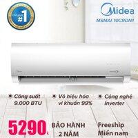 Máy lạnh Midea 1HP Inverter 9000BTU tiết kiệm điện - Chức năng kháng khuẩn & Làm lạnh nhanh - Điều hòa một chiều -  Hàng phân phối chính hãng - Bảo hành tại nhà 3 năm toàn quốc Midea MSMAI-10CRDN1 [bonus]