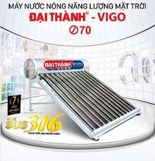 Máy nước nóng năng lượng mặt trời Đại Thành VIGO SUS 316 210L 70-14
