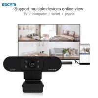 Máy Quay Gọi Video Qua Điện Thoại ESCAM HD 1080P Webcam Máy Tính Lớp Học Trực Tuyến Webcam USB Kỹ Thuật Số LazadaMall