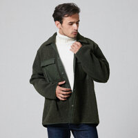 Mens Fashion Thick Double Pockets Solid Color Casual Jacket