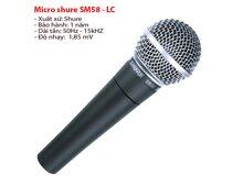 Micro Shure SM58LC (SM58 LC) - Micro có dây, không công tắc