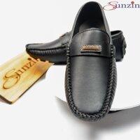 Miễn Phí HN từ 99k-Giày DA THỜI TRANG NAM sunzin VL960 - Kiểu Giày lười Giày mọi - chất liệu da cán mờ vân sần cách t