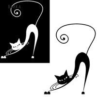 Miếng Dán Trang Trí Xe Hơi Hình Mèo Hoạt Hình Chống Thấm Nước