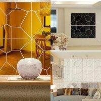 Miếng dán tường trang trí nội thất thiết kế tráng gương hiện đại