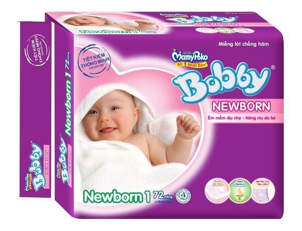 Miếng lót Bobby Fresh Newborn 1 72 miếng (dưới 1 tháng)