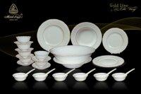 Minh Long - Bộ bàn ăn 30sp Đài Các chỉ vàng 30014