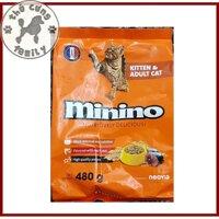 Minino 480g - Thức ăn hạt Cho Mèo - mọi lứa tuổi -  Sản phẩm của Pháp - Family Pets