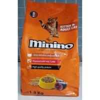 MININO - Thức ăn dành cho mèo 1.3 kg và 480 g