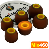 misodiko Mix460 Earbuds Tips - for Jaybird X4 X3 X2 BlueBuds X Freedom 2 F5/ Powerbeats Pro 3 2 1 BeatsX Tour/ 1More E1025 E1024 E1020BT/ MDR XB55AP XB75AP EX650AP EX155AP EX255AP EX15AP EX15LP - Replacement In-Ear Earphones Eartips (3Pairs)