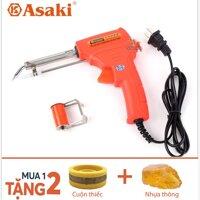 Mỏ hàn nhiệt điện tử tự động đẩy thiếc chính hãng Asaki AK-9950 60W loại xịn - Tặng thiếc & nhựa thông