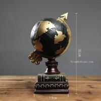 Mô hình QUả địa cầu black 30cm   Trang trí phòng khách, quán cà phê, studio