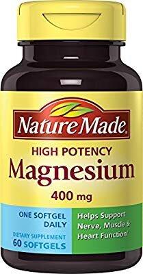 Nature Made High Potency Magnesium 400 mg 150 viên - Viên Uống Tăng Cường Cơ Bắp Và Giúp Xương Chắc Khỏe