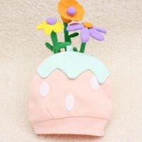 Netti Fashion Baby Candy-color Three-dimensional Strawberry Cotton Hat Cute Cartoon Shape Hat  Korean Visor Caps