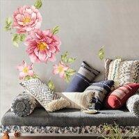 Nghệ Thuật Có Thể Tháo Rời Trang Trí Nội Thất Phòng Khách Tự Làm Hoa Mẫu Đơn Hình Hoa Retro Hình Dán Tường