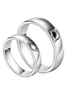 Nhẫn đôi Bạc Hiểu Minh NC352 nguyện ước