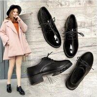Nhỏ Giày Da Nữ Retro Triều 2020 Mới Thu Đen Tự Nhiên Học Sinh Sinh Viên Hàn Quốc Mùa Giày Đơn