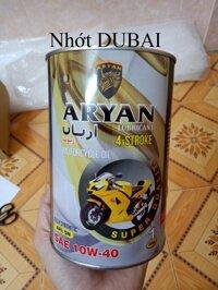 Nhớt Aryan Lubricant 10w40 100% tổng hợp dùng cho xe máy 4 thì (xe số côn tay) nhớt DUBAI