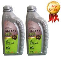 Nhớt xe máy tay ga Galaxy AX1 cao cấp Hàn Quốc - Combo 2 chai - 1000ml