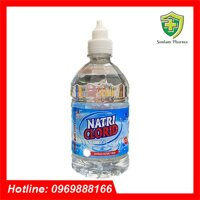 Nước Muối Sinh Lý Súc Miệng, Rửa Vết Thương Natri Clorid 0,9% - Chai 500ml