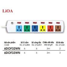 Ổ cắm kéo dài Lioa 6DOF33N (6DOF33NCG) - 3mx3