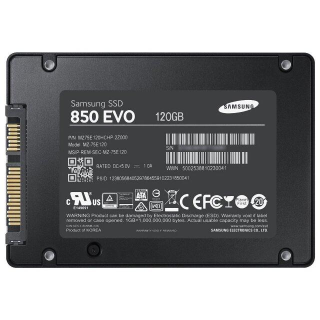 O cung SSD 120GB Samsung 850 EVO 2.5-Inch SATA III