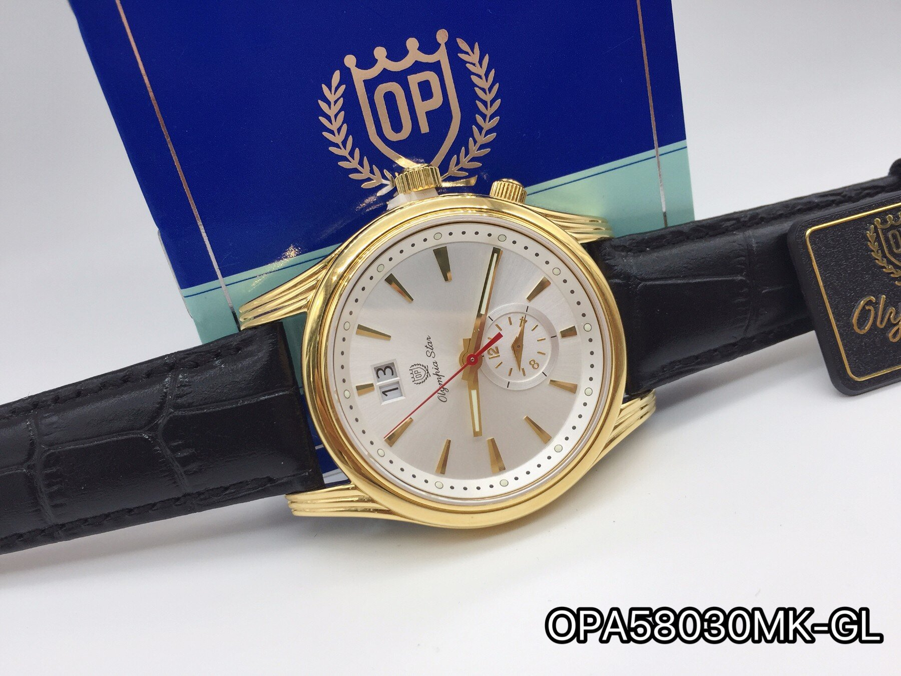 Đồng hồ nam dây da OLYMPIA STAR OPA58030MK - màu GL, GLD, GLV