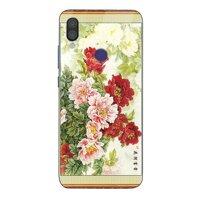 Ốp điện thoại kính cường lực cho máy Xiaomi Mi A2 - mẫu đơn MS MAUDON024
