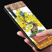 Ốp lưng điện thoại Samsung Galaxy M20 - Tranh Mai Đào MS MDAO003