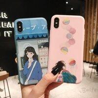 Ốp lưng hình cô gái anime nhiều mẫu mã cho điện thoại iPhone X XS XR XS Max 8 7 6 6SP 791