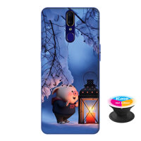 Op lung nhua deo danh cho Oppo F11 in hinh Heo Con Den Dem - Tang Popsocket in logo iCase - Hang Chinh Hang
