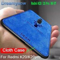 Ốp lưng Xiaomi Mi 9T / Redmi K20 / K20 Pro vân vải mềm đầu hươu cao cấp