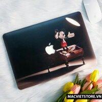 Ốp Macbook Hình Chuột Mickey Đủ Dòng (Tặng Kèm Phủ Phím Và Set Nút Chống Bụi)